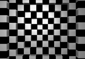 Fototapeta na flizelinie 00968 Black and White Squares