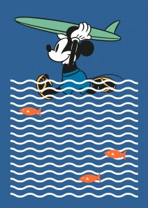 FOTOTAPETA DX4-025 Mickey gone Surfin'