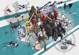 FOTOTAPETA DX8-073 Star Wars Cartoon Collage Wide