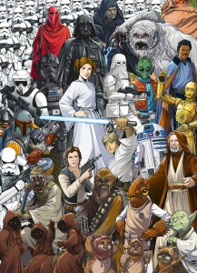 FOTOTAPETA 4-4111 Star Wars Classic Cartoon Collage