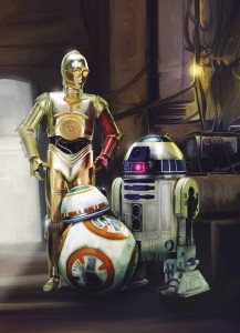 Fototapeta 4-447 STAR WARS THREE DROIDS