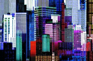 Fototapeta 641 Colourful Skyscrapers GIANT ART